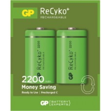 GP RECYKO+ RECHARGEABLE BATTERY C 2PCS 2200mAh