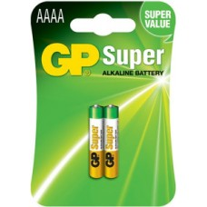 GP SUPER ALKALINE AAAA 2PCS/CARD 1.5V