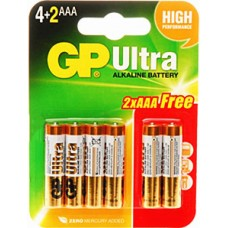 GP ULTRA ALKALINE AAA 6PCS/CARD