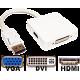 DISPLAY PORT M TO VGA / DVI / HDMI 15CM 28AWG