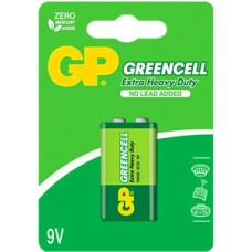 GP CARBON ZINC-GREENCELL 9V 1PC/CARD