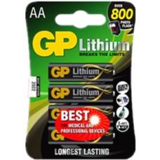 GP LITHIUM AA 4PCS/CARD