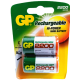 GP RECHARGEABLE BATTERY C 2P/CARD 2200mAh 1.2V