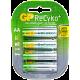 GP RECYKO RECHARGEABLE BATTERY AA 4PCS/CARD 2000mAh