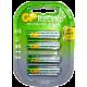 GP RECYKO RECHARGEABLE BATTERY AAA 4PCS/CARD 820mAh