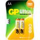 GP ULTRA ALKALINE AA 2PCS/CARD
