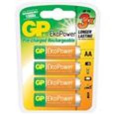 GP EKO POWER RECHARGEABLE BATTERY AA 4P/CARD 1050mAh 1.2V